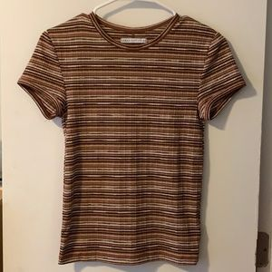 Urban Outfitters Fitted Striped Tee
